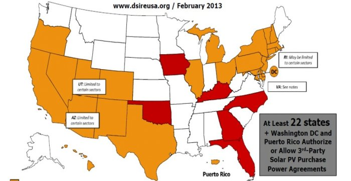 DSIRE Map of states with leasing